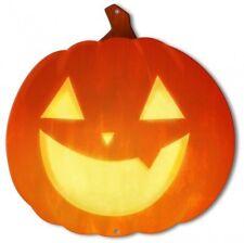 Jack-O-Lantern Smiling Pumpkin Halloween Plasma Metal Sign