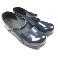 Sanita Marcelle Clogs Size 39 Patent Leather Blue Professional Mary Jane Shoes