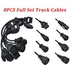 8x Full Set Truck Cables For Delphi Ds150e Autocom Cdp+DS150 TCP OBD2 Diagnostic