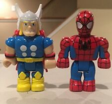 Thor And Spiderman Figure Avengers Mega Blok Lot
