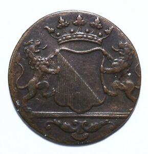 1790, VOC, Netherlands East Indies, 1 Duit, Copper, VF, KM# 111, Lot [1710]
