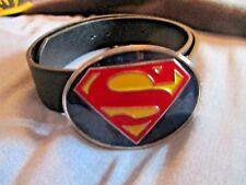Superman Buckle belt black XS Barley worn
