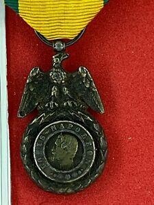 Réduction 21 mm - Médaille Militaire - Second EMPIRE -  Napoléon III -17-