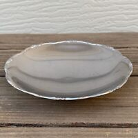 """VINTAGE SILVER PLATED FOOTED DISH ROUND TARNISH RESISTANT GERMANY 5.5""""W F/S"""