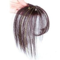 Thin Neat Air Bangs Remy Hair Extensions Clip in on Front Fringe Hairpiece= O2K2