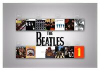 The Beatles Albums - Classic Iconic Music Band History Wall Art Canvas Pictures