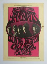 Bg 33 Yardbirds w/ J. Page *Original* 1St Printing* 1966 Fillmore Concert Poster