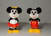 "Walt Disney Mickey Mouse & Minnie Mouse 2"" Ceramic Porcelain Figurines"