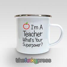 FIN DE MANDAT professeur ce qui est Your Superpower ? email Mug thé café CADEAU