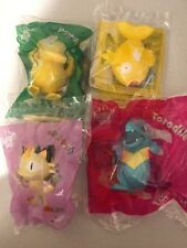 Mcdonalds Happy Meal 4x POKEMON Collectors Toys w Cards Brand New 2018 (Set 3)