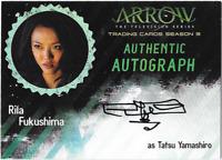 Arrow Season 3 Auto Autograph Card Rila Fukushima Tatsu Yamashiro RF