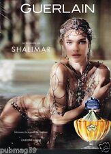 Publicité advertising 2013 Parfum Shalimar Guerlain Natalia Vodianova