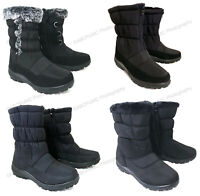 New Women's Winter Boots Fur Lined Insulated Waterproof Zipper Ski Snow Shoes