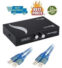 Bundle For Printer Switch 2 Port USB 2.0 Manual Scanner Sharing Hub PC To 5 Feet