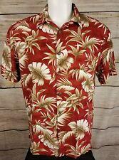 Island Shores Hawaiian Shirt Size Large Tropical Floral
