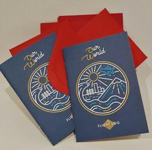Children Flight log book Travel Journal Gifts World maps & flags Eco-Friendly