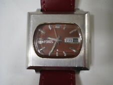 Seiko orologio vintage automatic cioccolatone quadrato ref 6119-5400 TV watch