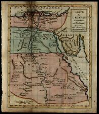 Ancient Egypt c.1790's miniature scarce old map