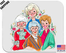 The Golden Girls, Mother, Grandma Birthday, Gift, Mouse Pad, Non-Slip, USA,White