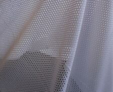 """Sport Mesh White Polyester Mesh Netting 58"""" Wide Fabric by the Yard D466.04"""