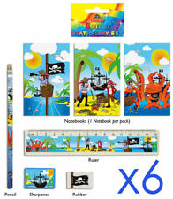 6 Pirate Stationery Sets - Toy Loot/Party Bag Fillers Wedding/Kids