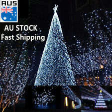 500 Leds Solar Fairy String Lights Waterproof White Xmas Backyard Decoration 52M
