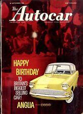 AUTOCAR MAGAZINE 1960-30/9 FORD ZEPHYR ROAD TEST - PONTIAC TEMPEST