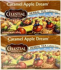 2 Boxes Celestial Seasonings 1.7 Oz Caramel Apple Dream Caffeine Free Herbal Tea