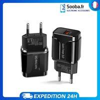 Prise USB Adaptateur Chargeur Secteur 18W - Qualcomm Quick Charge Rapide