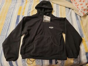 GRUNDENS BERING SEA FLEECE HOODED PULLOVER - MEN'S XS EXTRA SMALL/BLACK