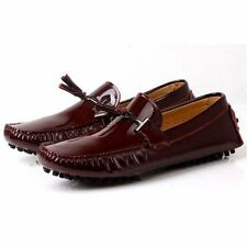 100% Leather Solid Moccasins for Men