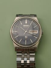 Reloj Digital Seiko Sq Esfera Azul 7123-8430-P con correa de acero original firmado