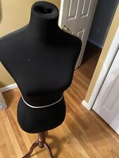 Female Mannequin Torso Clothing Dress Form Display Black Solid Wood Stand