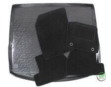 FORD FOCUS TURNIER ESTATE mk3 2011-16 Tailored black floor car mats + boot tray