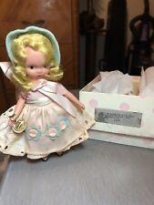 "Vintage Nancy Ann Storybook Doll # 127 ""Merry Little Maid"" Eyes Of Blue""."