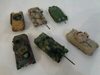 1:72 Scale Combat Tanks Static models detailed -set of 6