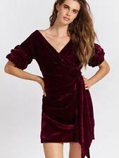Fame & Partners Free People Caroline Velvet Wrap Red Dress Size 0 New $299