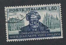 ITALY  #596 Used VF Issue / Giuseppe Verdi Music Composer - S8165