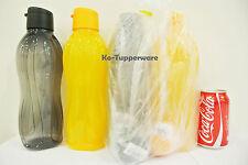 X2 Tupperware H2o on The Go Eco Water Drink Bottle Sport Flip Top Cap 1.0l