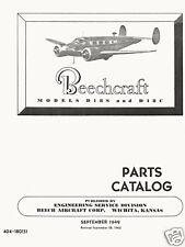 BEECHCRAFT MODEL D-18 PARTS CATALOG ( D-18S and D-18C )