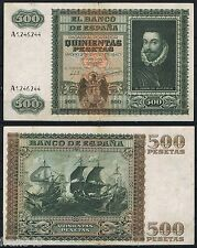 500 PESETAS 1940 JUAN DE AUSTRIA Serie A1246244 P.119 (EL DE LA FOTO)