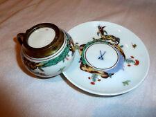 Very Rare Meissen Cup & Saucer Kakimon Silver 800 !!!