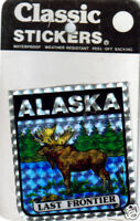 Alaska Prism Sticker decal - Last Frontier - Moose in a Lake, great for RV, Car