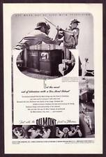 1940s Original Vintage Dumont Television Baseball Player Sports Photo Print Ad