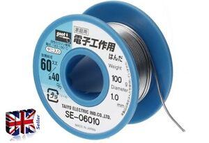 GOOT SE-06006 solder -SPECIAL SPOOL-SOLDERS Sn-Pb 60-40% ø0.6mm 100g