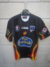 Maillot rugby RC ORLEANS porté n°15 match worn shirt Black Lemon noir L moulant
