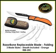 OUTDOOR EDGE Razor-Bone RazorSafe Folding Replaceable Blade Knife 3 Blade Style