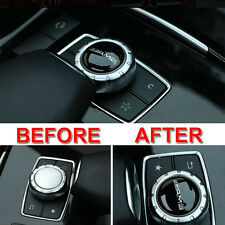 1x Multimedia Control Badge Decal 2.9cm Adhesive AMG Black Sticker For Mercedes