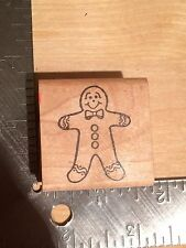 Gingerbread Man Christmas Cookie Woodblock Rubber Stamp - Crafting Crafts