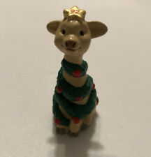 1992 Hallmark New Christmas Giraffe As Tree Merry Miniature Qfm9141